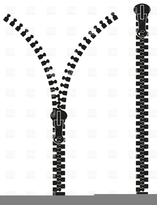 Zipper Clipart Black And White.