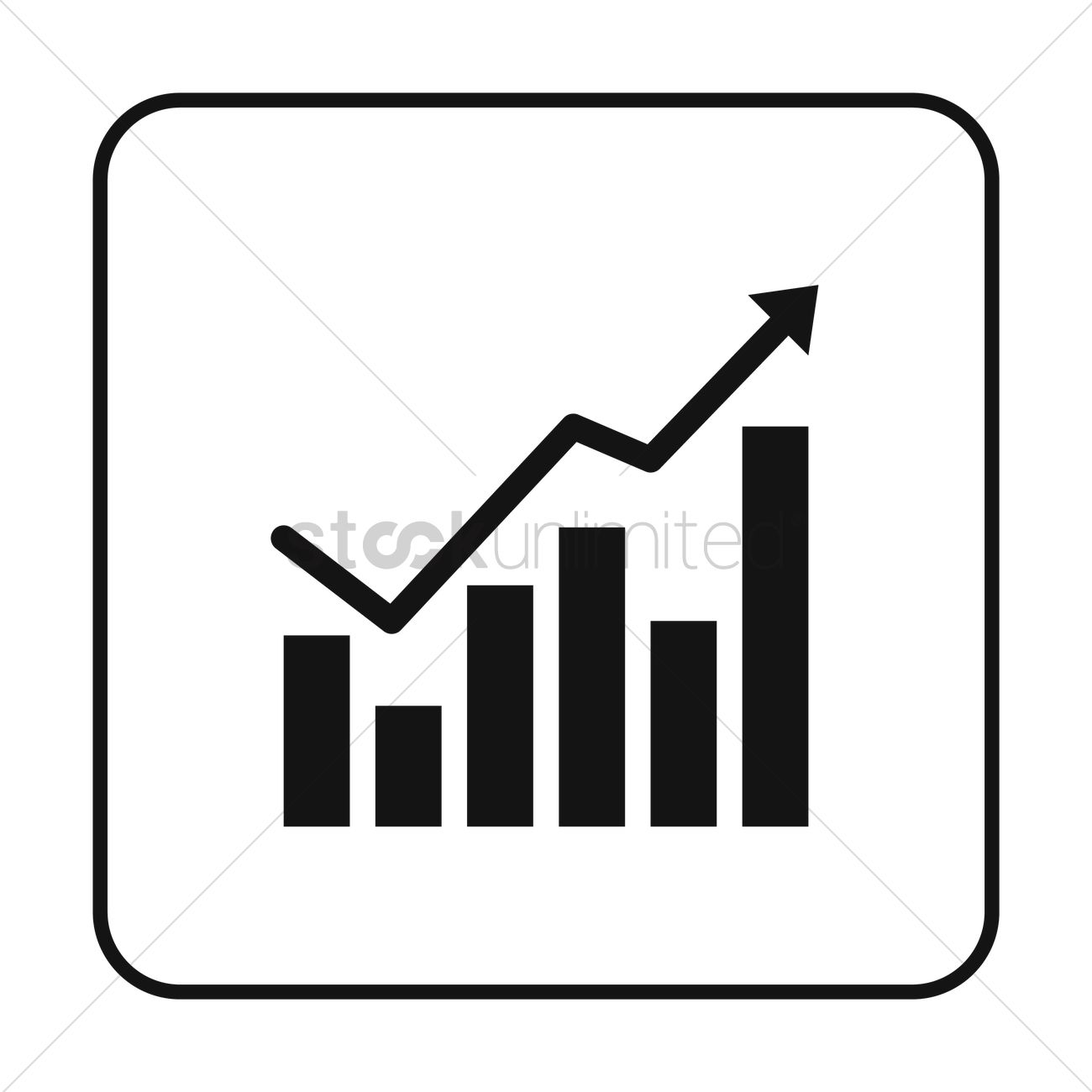 Graph bars and line chart Vector Image.