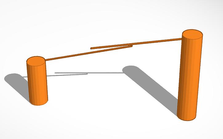 3D design zipline.