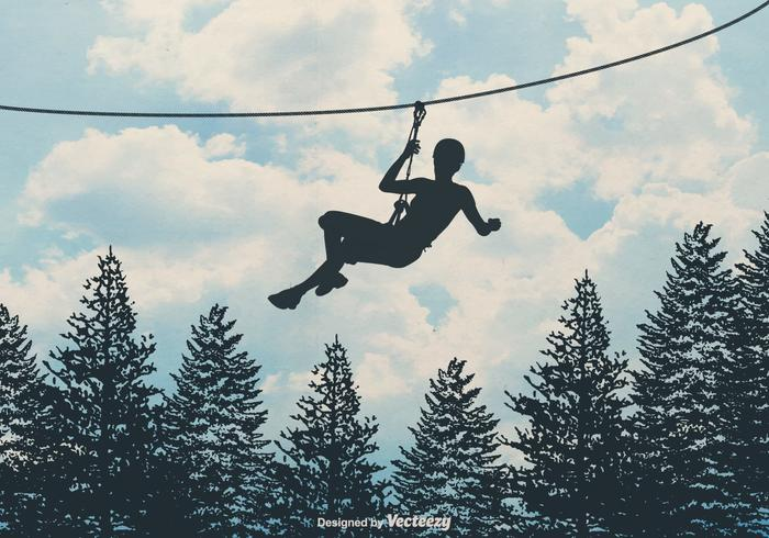 Free Zipline Vector Background.