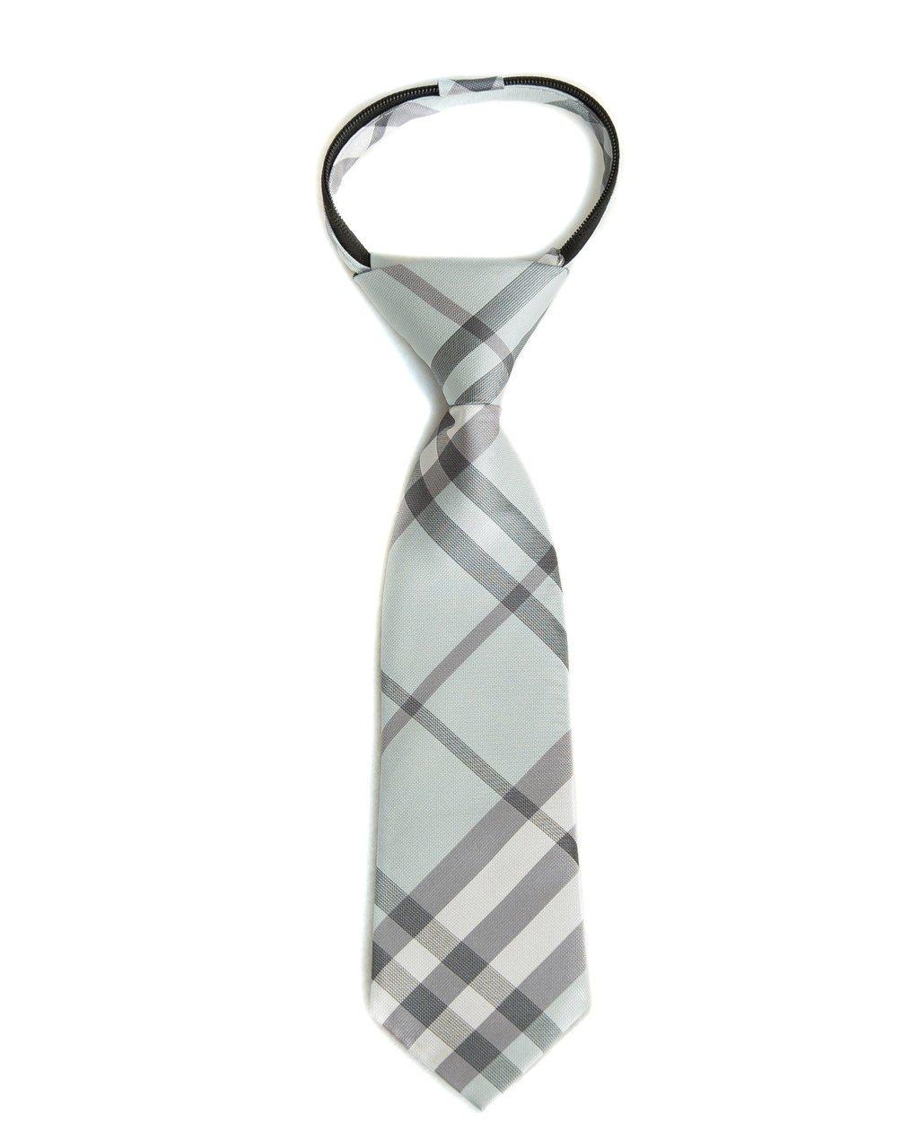 Ice & Ash Plaid Zipper Tie (Boys and Men).