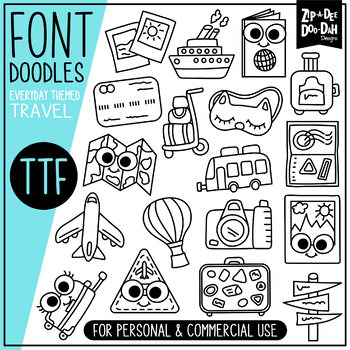 Travel Doodle Font {Zip.