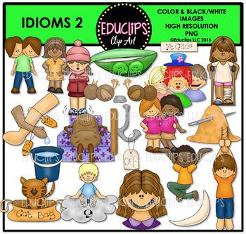 Idioms 2 Clip Art Bundle {Educlips Clipart}.