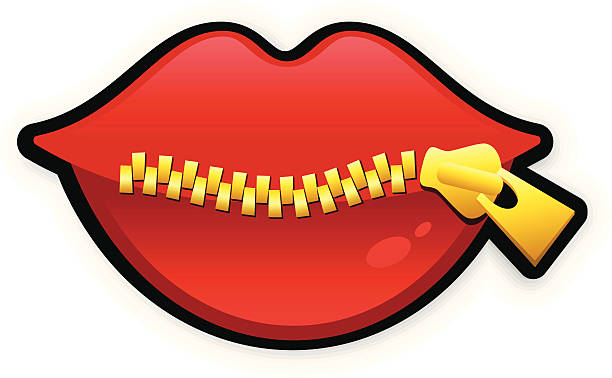 Zip Mouth Clipart.