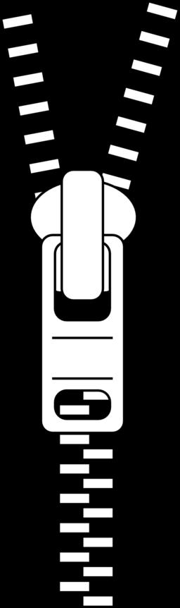Zipper Clipart Black And White.