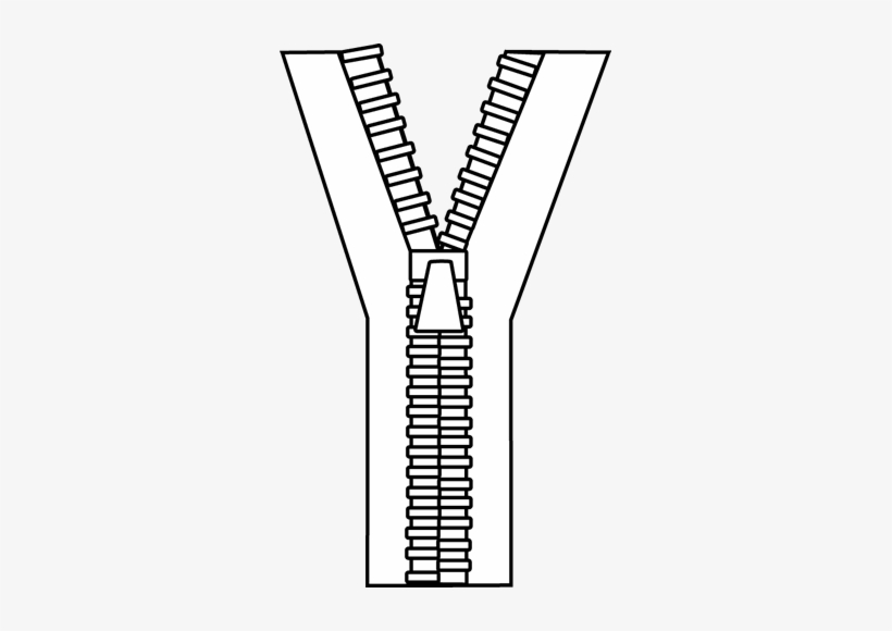 Black And White Zipper Clipart.