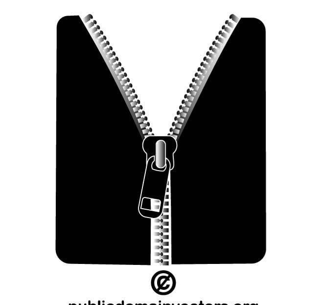Zipper vector clip art eps, ai file.