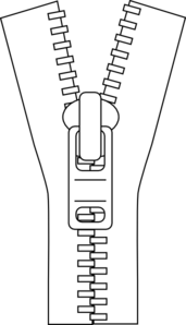 Zipper Outline clip art.