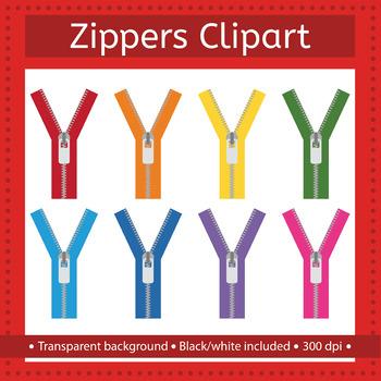 Zippers clip art.