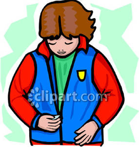 Zipping Coat Clipart.