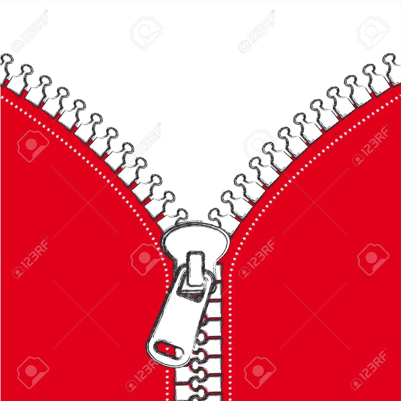 Jacket Zipper Clipart.