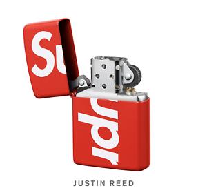 Supreme Ss18 Red Logo Zippo Lighter.