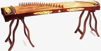 Zither instrument PNG clipart.