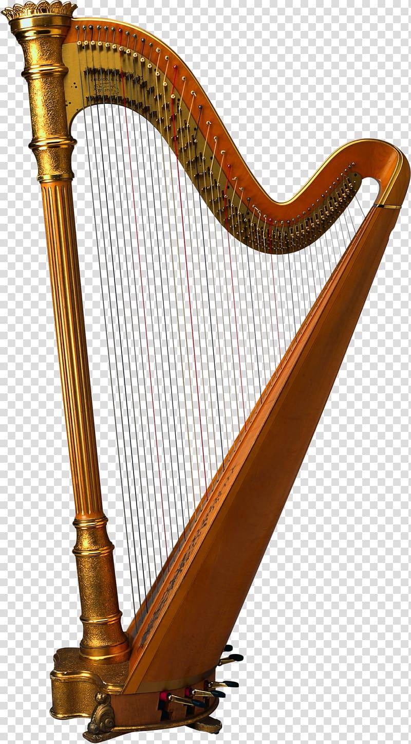 Celtic harp Musical Instruments, clip gemajing transparent.