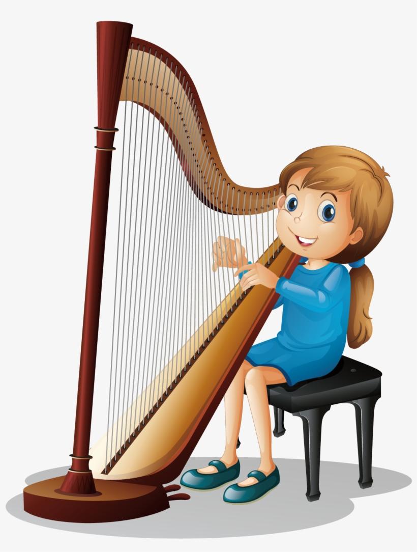 Musical Clipart Harp.