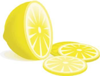 Zitrone 3 Clipart Graphic.