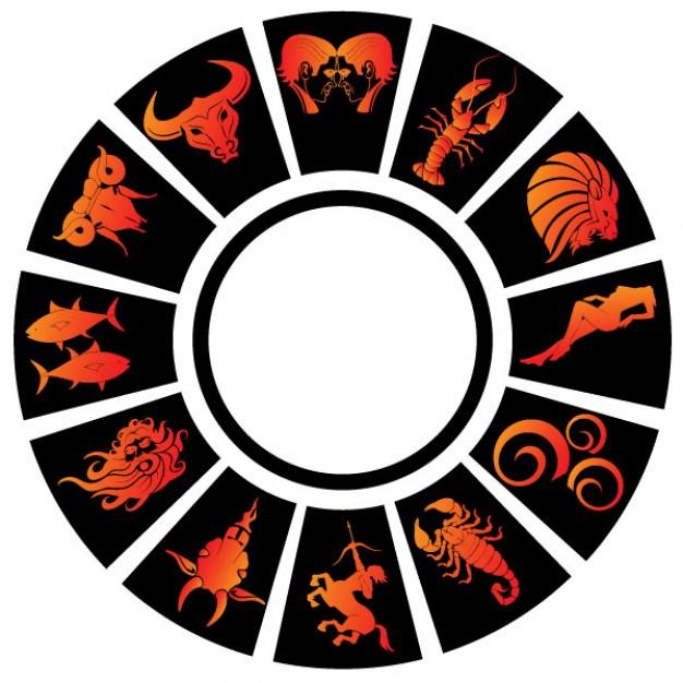 Zodiac signs vector clip art Vector.