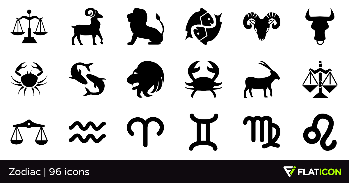 Zodiac 96 free icons (SVG, EPS, PSD, PNG files).