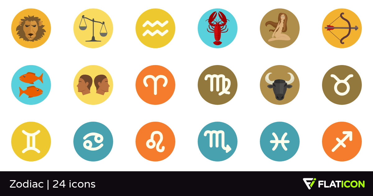 Zodiac 24 free icons (SVG, EPS, PSD, PNG files).