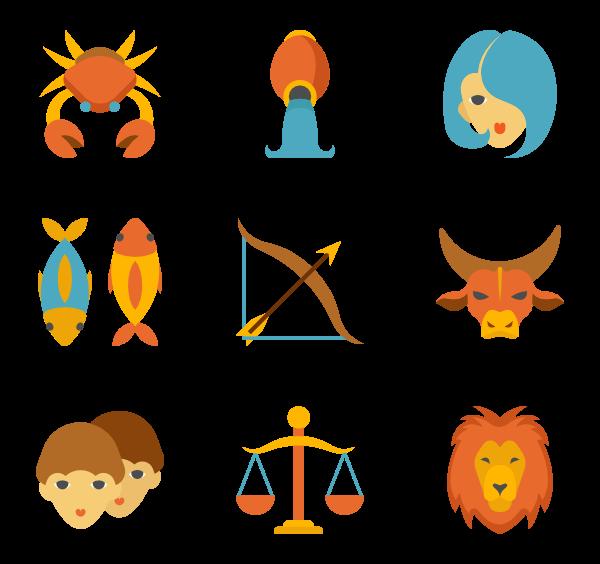 43 zodiac icon packs.