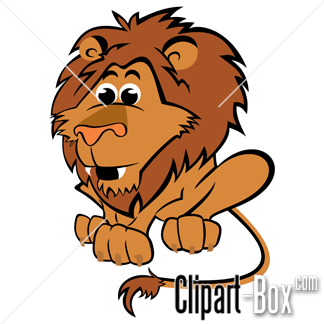 CLIPART CARTOON LION.