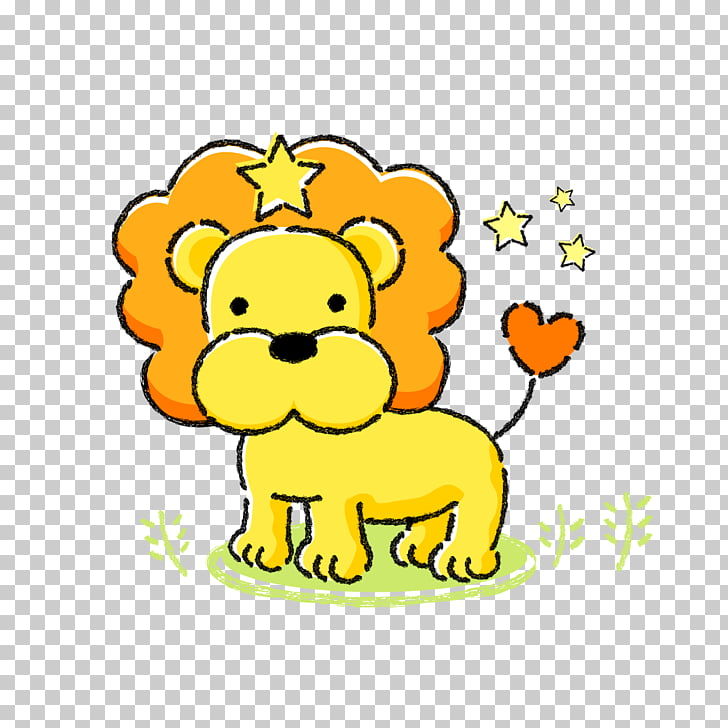 Leo Zodiac Aries Horoscope, Cartoon lion PNG clipart.