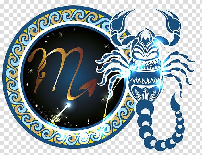 Blue scorpion illustration, Scorpio Zodiac Astrological sign.