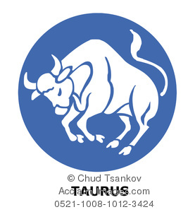 Clipart Image of Zodiac Sign For Taurus the Bull.