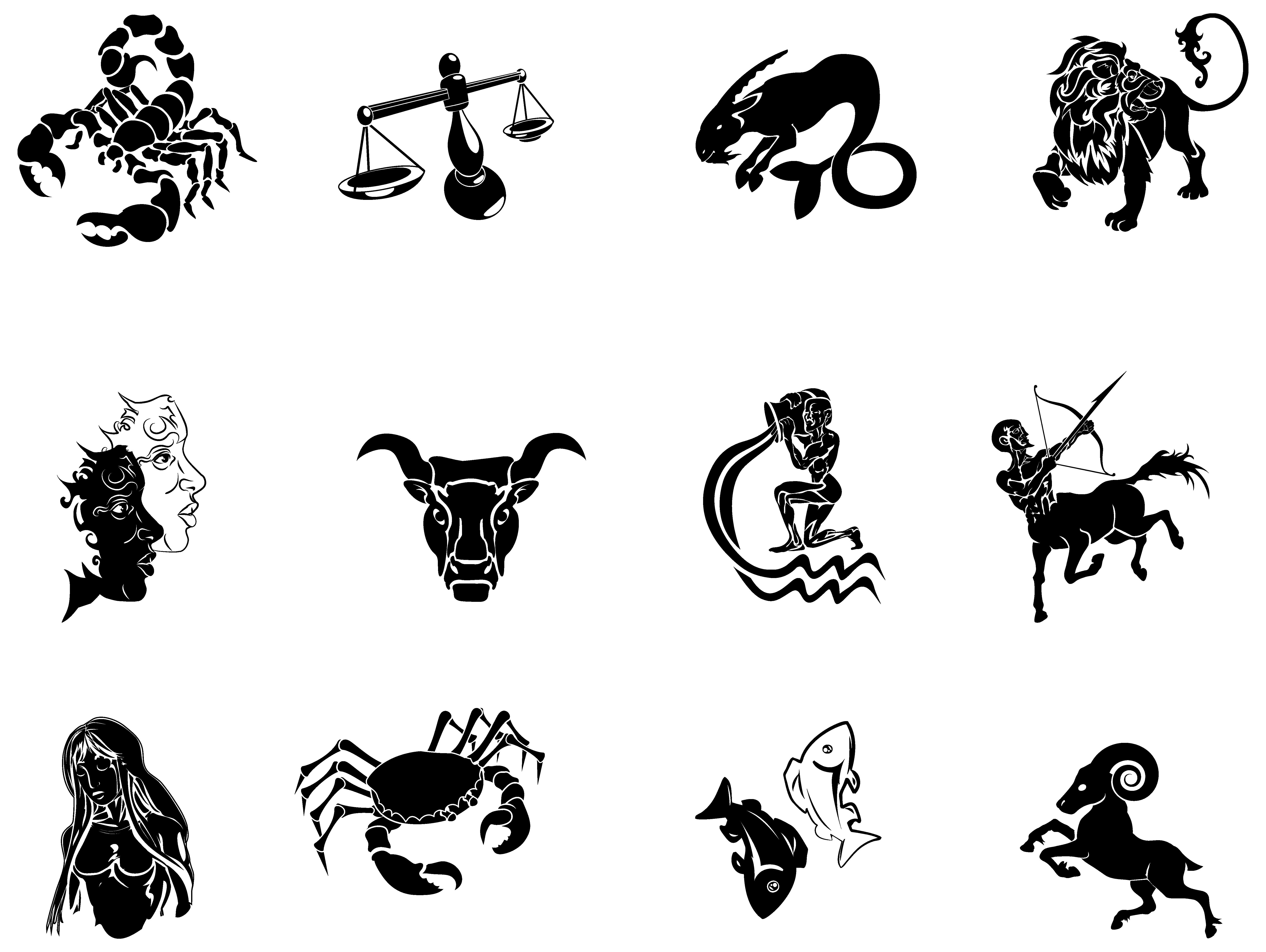 Zodiac Signs Transparent PNG Clipart Image.