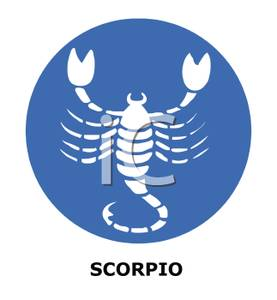 Scorpio Zodiac Sign Clipart.