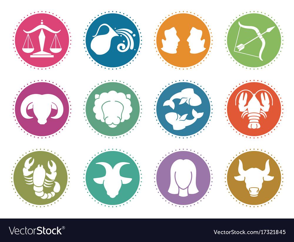 Horoscope zodiac signs astrology symbols.