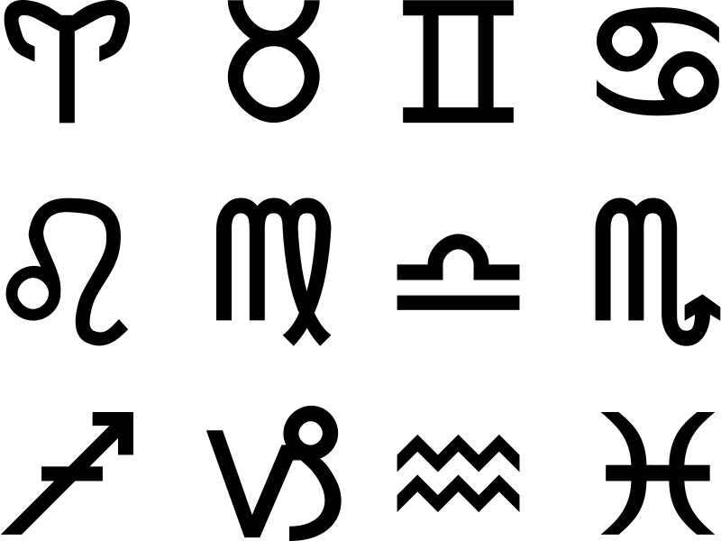 Free Clipart: Zodiac Signs.