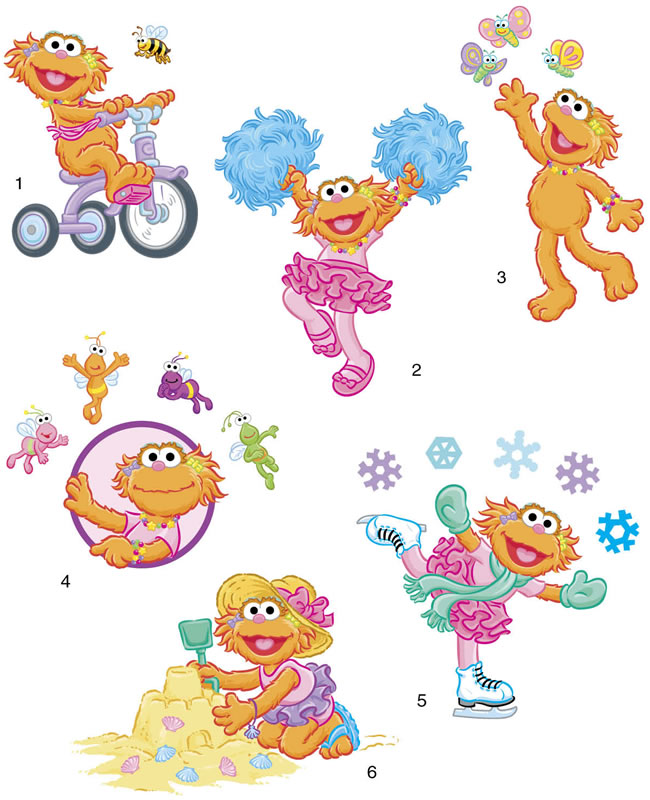 Sesame Street Zoe Counting With free image.
