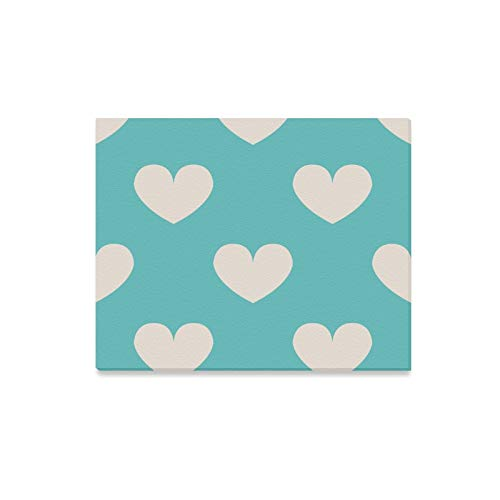 Amazon.com: Wall Art Painting Light Blue Polka Dot Heart.