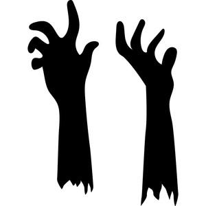 Zombie Arm Silhouette.