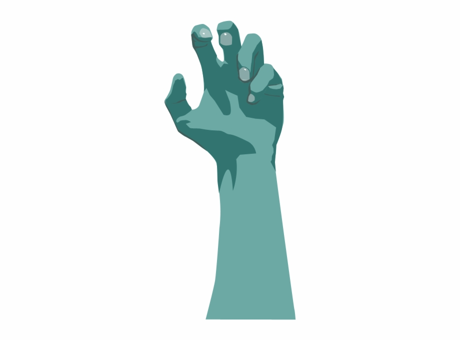 Zombie Arm Png Hand Zombie Vector Png.