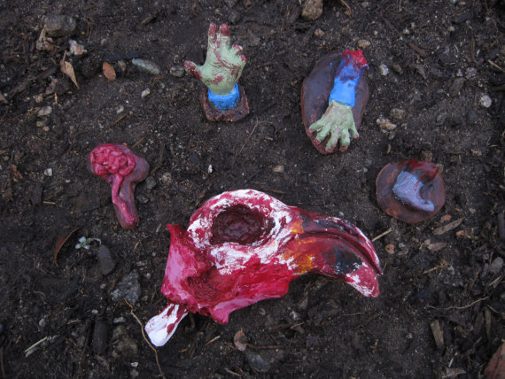 Zombie Body Parts Clipart.