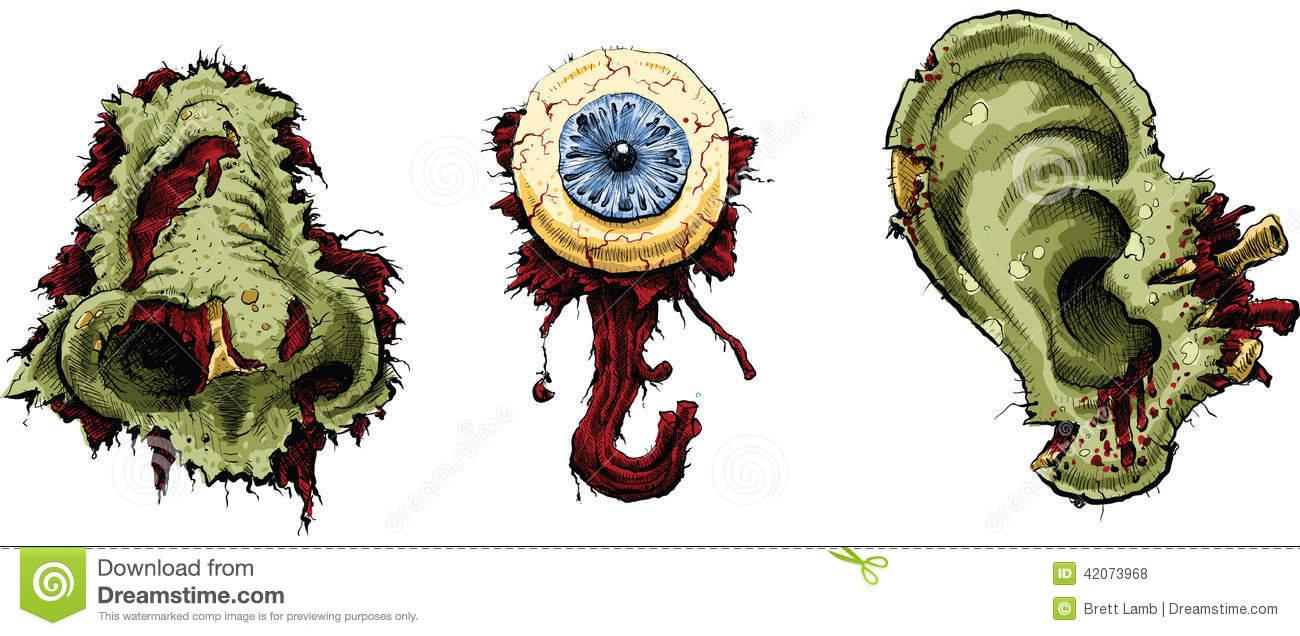 Zombie Body Parts Stock Illustration.