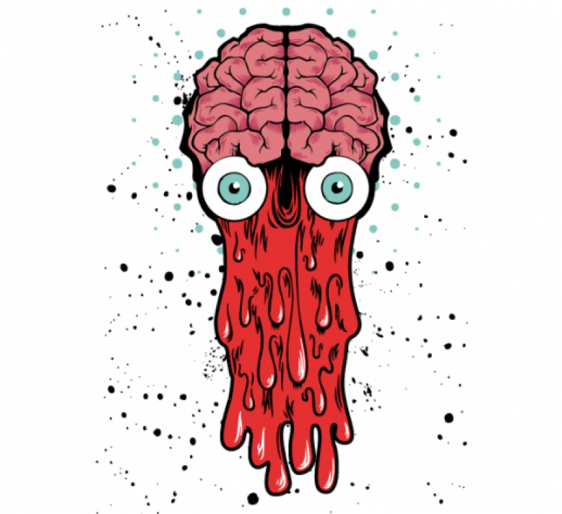 3458 Zombie free clipart.