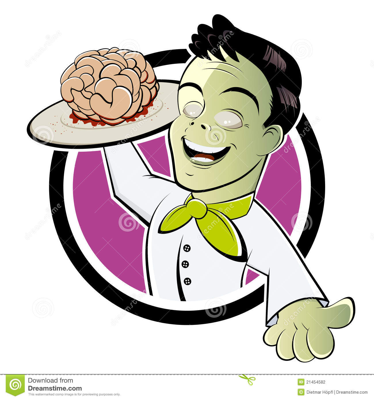 Zombie Eating Brains Clipart.