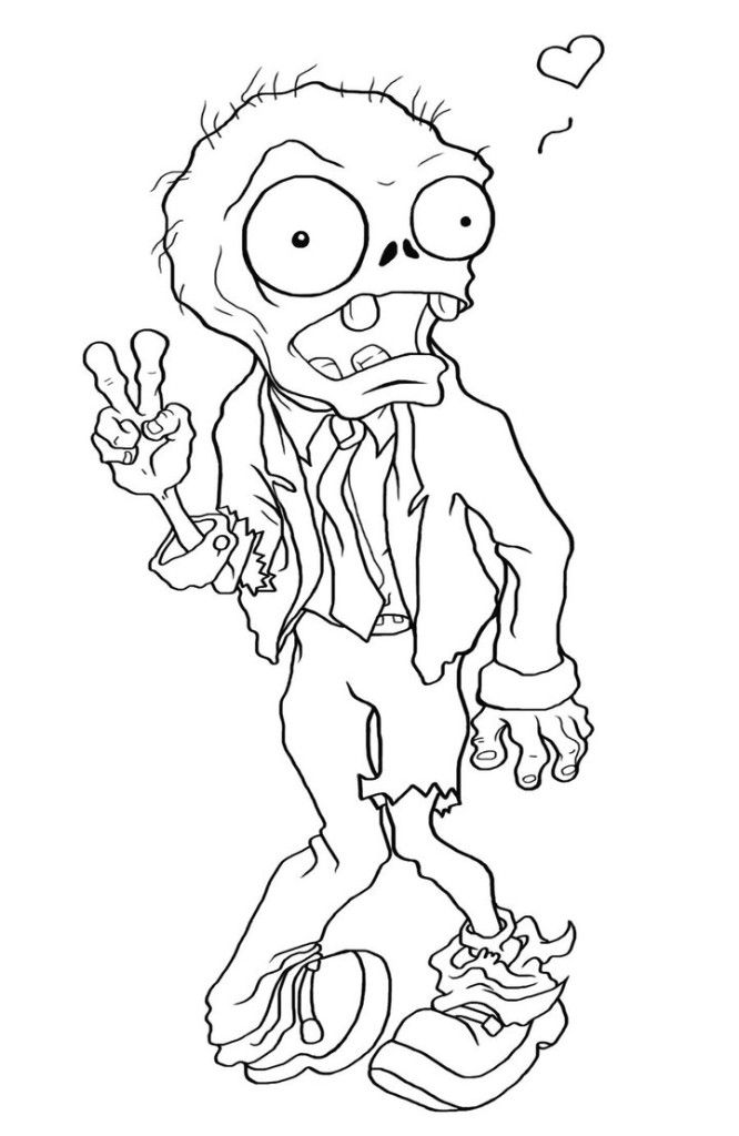 Free Printable Zombies Coloring Pages For Kids.