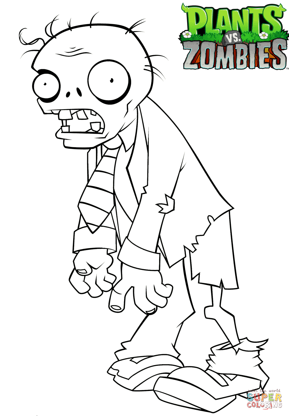 Plants Vs Zombies Printable Coloring Pages.