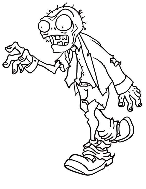 Coloring Pages Of Zombies.