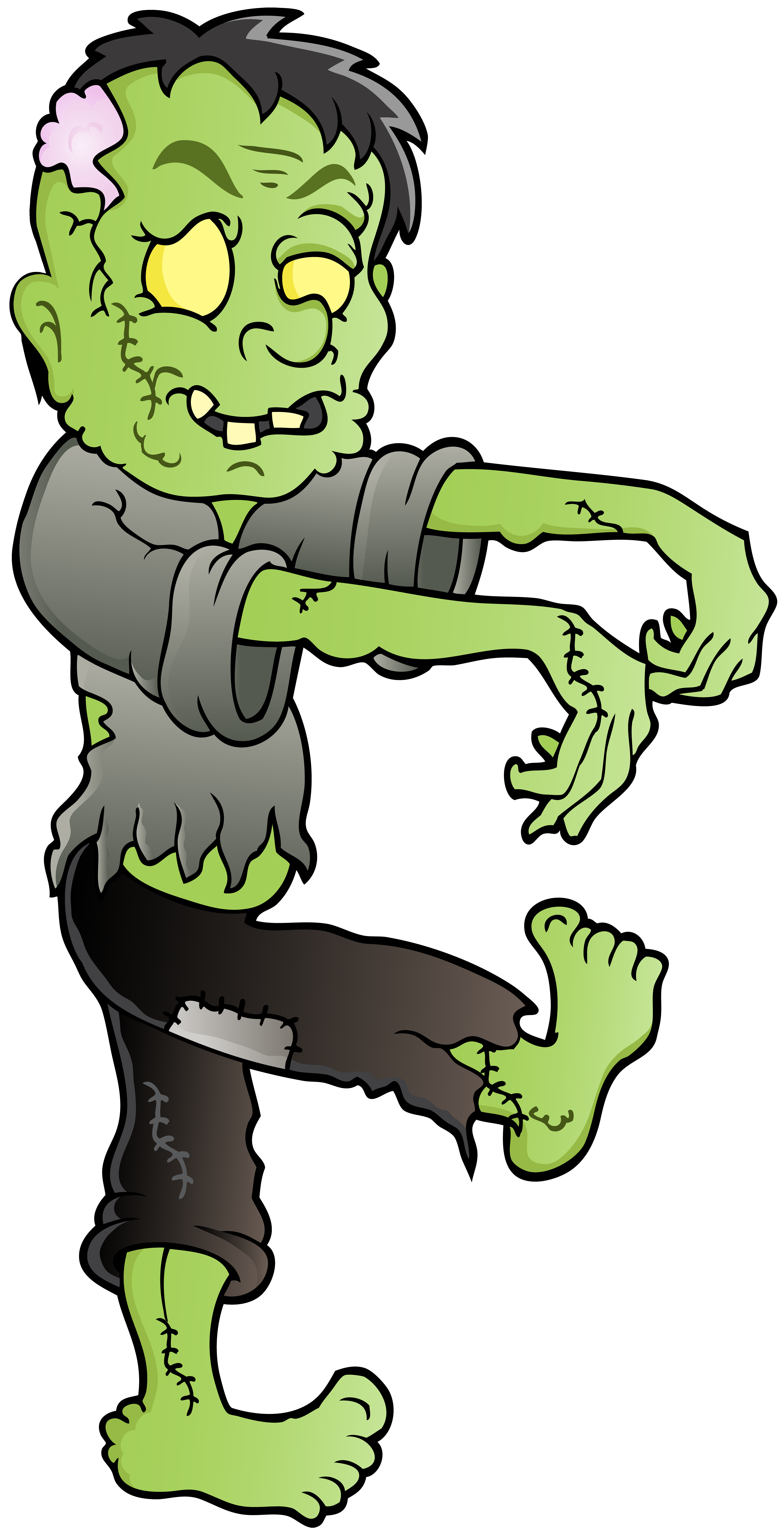 Zombie PNG Clip Art Image.