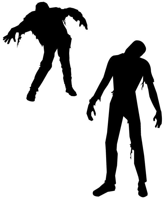 Free zombie silhouette vectors? Score!.