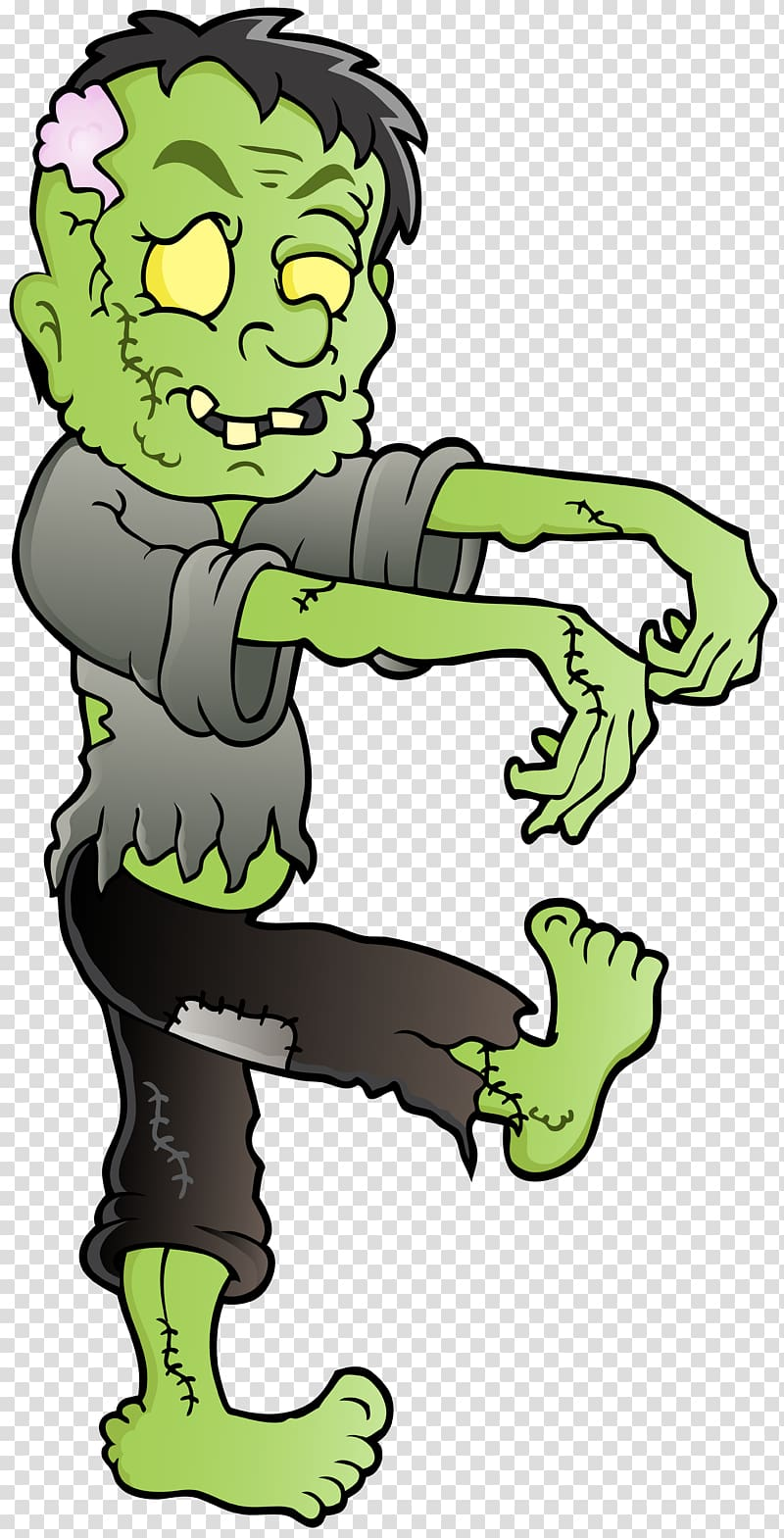 Zombie transparent background PNG clipart.