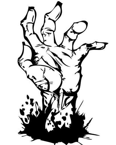 Free Zombie Clipart Black And White, Download Free Clip Art.