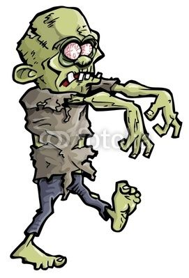 Vector: Cartoon of a green zombie hand ….