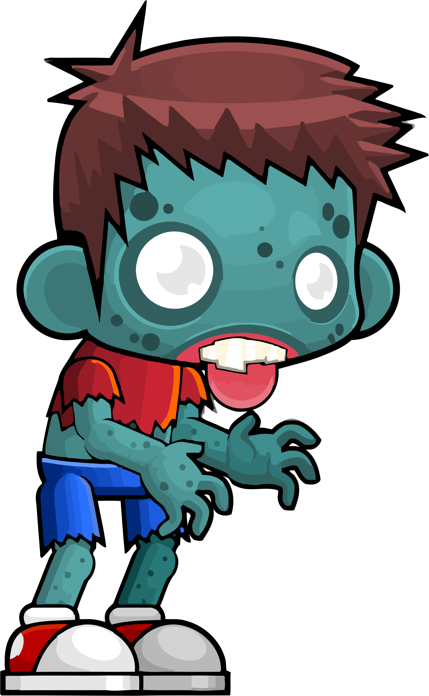 Male Zombie Vector Clipart image.