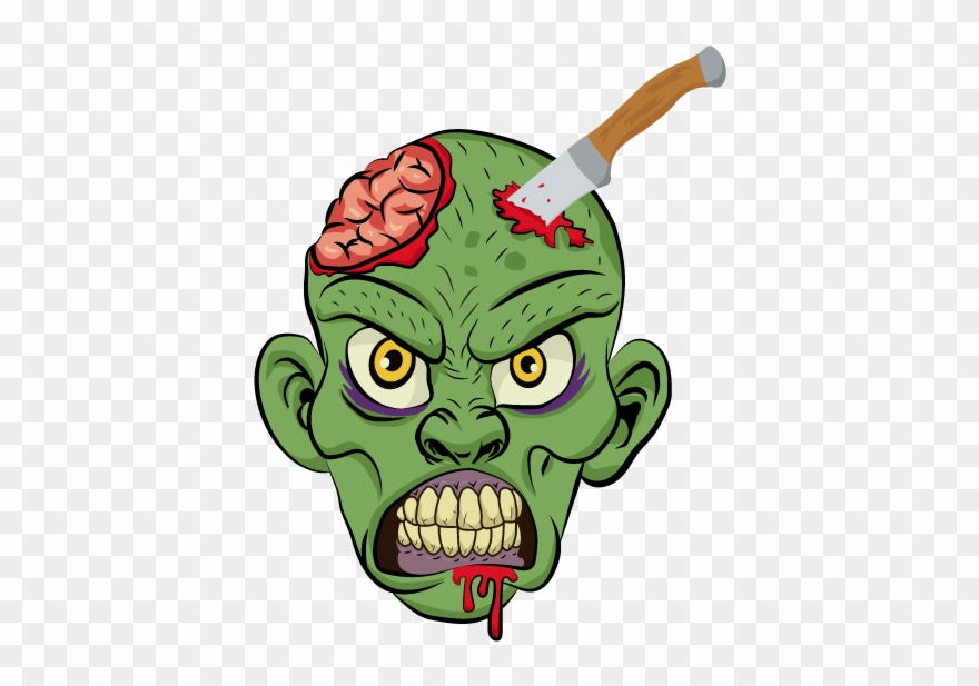 Oozer Halloween Vector Skull Creepy Illustrative Zombie.